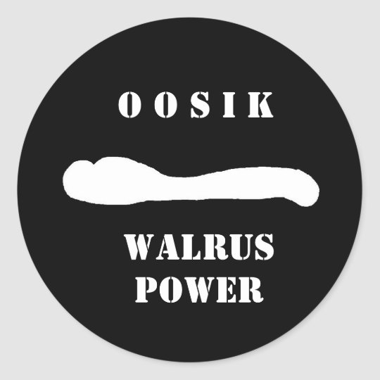 oosik walrus rep classic round sticker
