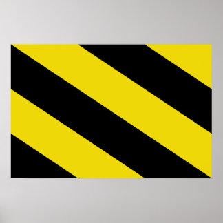 Oosterzele, Belgium flag Poster