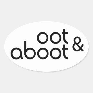 Oot & Aboot Oval Sticker