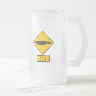 Ooze XING 16 Oz Frosted Glass Beer Mug