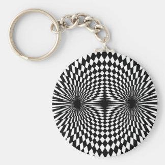 Op Art #12 Keychain