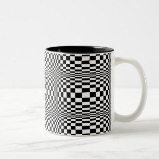 OP -Art #1 at Emporio Moffa Two-Tone Coffee Mug