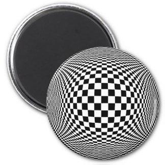 Op Art 2 Inch Round Magnet