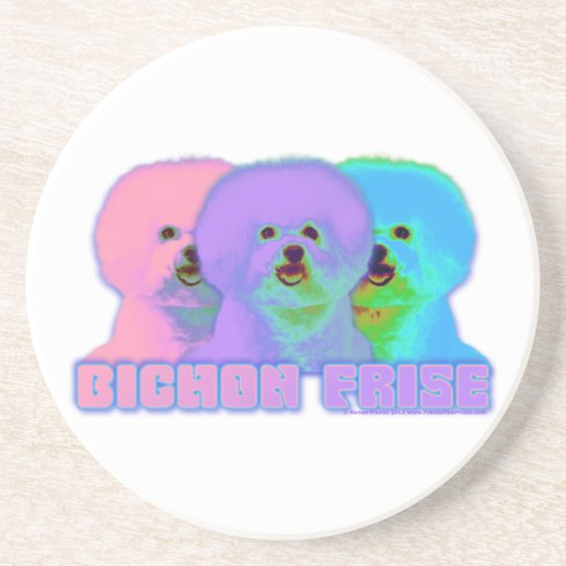 Op Art 3 - Bichon Frise Coasters