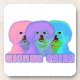 Op Art 3 - Bichon Frise Beverage Coaster