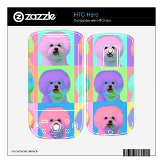 Op Art 9 - Bichon Frise Decal For The HTC Hero