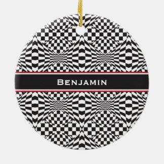 Op Art Background 1 Ceramic Ornament