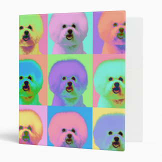 Op Art - Bichon Frise Vinyl Binder