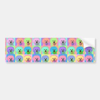 Op Art - Bichon Frise Bumper Stickers