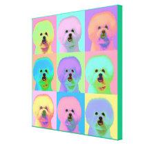 Op Art - Bichon Frise Canvas Print