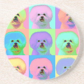 Op Art - Bichon Frise Drink Coasters