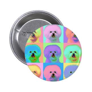 Op Art - Bichon Frise - Cody Button