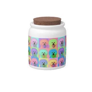 Op Art - Bichon Frise - Cody Candy Jars