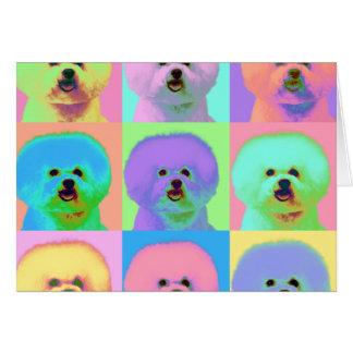 Op Art - Bichon Frise - Cody Card