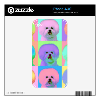Op Art - Bichon Frise - Cody Decal For iPhone 4S