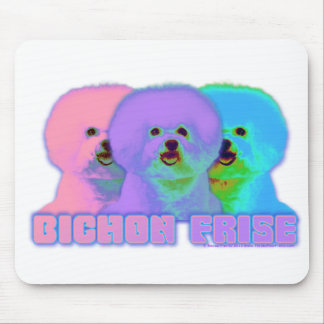 Op Art - Bichon Frise - Cody Mouse Pad