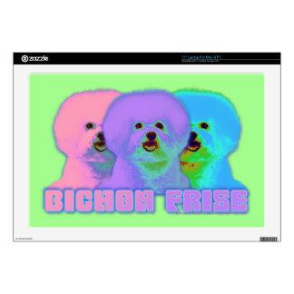 "Op Art - Bichon Frise - Cody Skins For 17"" Laptops"