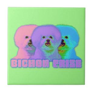 bbad40e65ff786 Op Art - Bichon Frise - Cody Tile