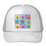 Op Art - Bichon Frise Hats