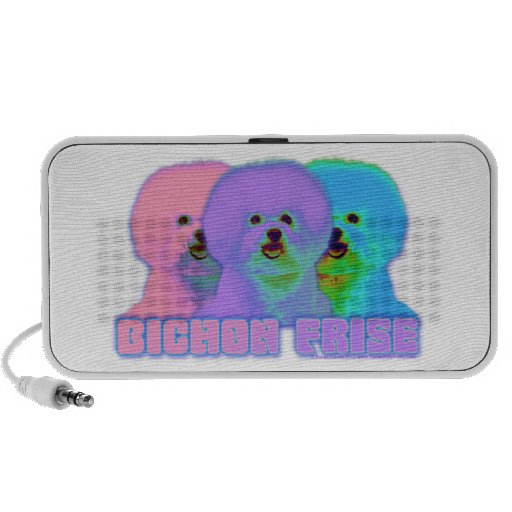 Op Art - Bichon Frise iPod Speaker