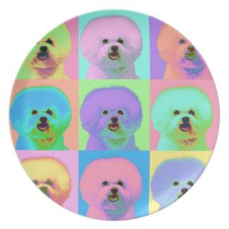 Op Art - Bichon Frise Plate