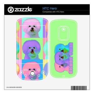 Op Art - Bichon Frise Decals For The HTC Hero