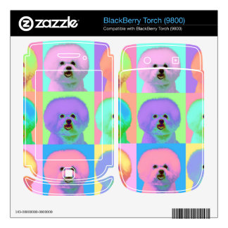 Op Art - Bichon Frise Decal For BlackBerry