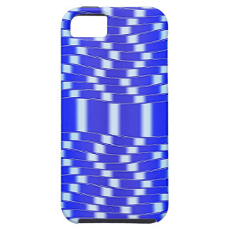 Op Art Big Waves Blue And White Seamless iPhone SE/5/5s Case