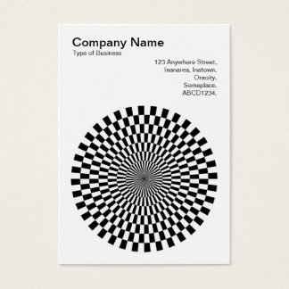 Op Art - Black and White Business Card