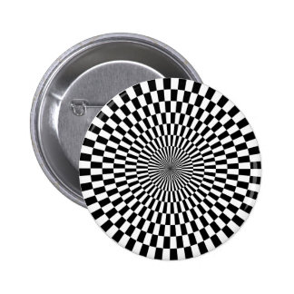 Op Art - Black and White Button