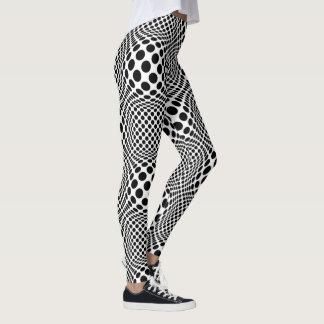 Op Art Black and White Leggings