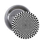 Op Art - Black and White Pin