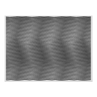 Op Art Black and White Square Stripes Poster
