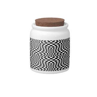 Op Art Checks Candy Jars
