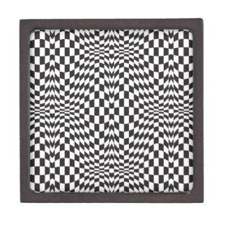 Op Art Checks Jewelry Box