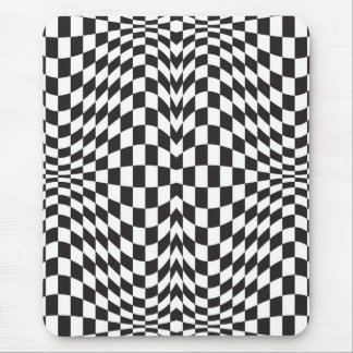 Op Art Checks Mouse Pad