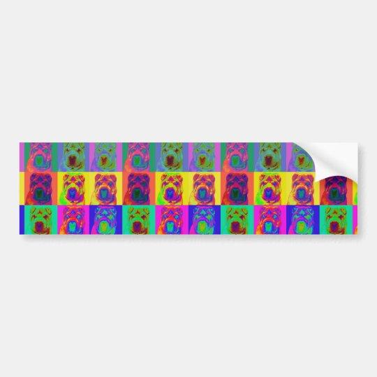 Op Art - Chinese Shar Pei Bumper Sticker