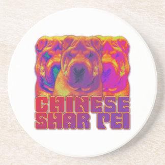 Op Art - Chinese Shar Pei Coaster