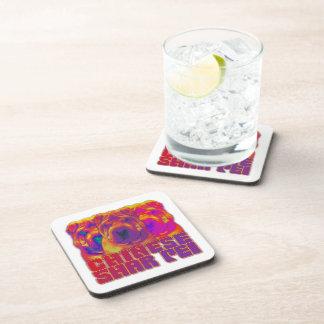 Op Art - Chinese Shar Pei Beverage Coasters