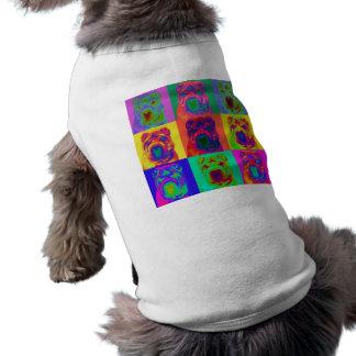 Op Art - Chinese Shar Pei Pet Tee Shirt