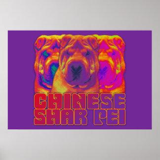 Op Art - Chinese Shar Pei Poster