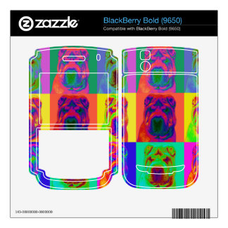 Op Art - Chinese Shar Pei Decal For BlackBerry