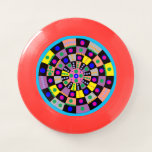 Op Art Circles and Squares Frisbee