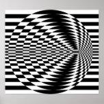 Op Art Contrasting Concentric Circles 01 Poster