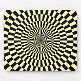 Op Art - Cream and Black Mouse Pad