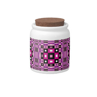 Op Art Design Candy Dishes