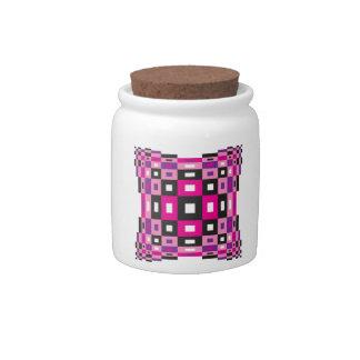 Op Art Design Candy Jar