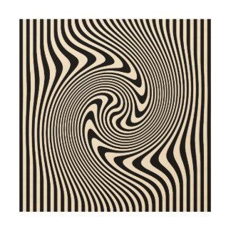 Op Art Design Print on Wood