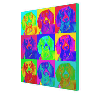 Op Art Doxie Canvas Print