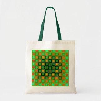 Op Art Green Budget Bag